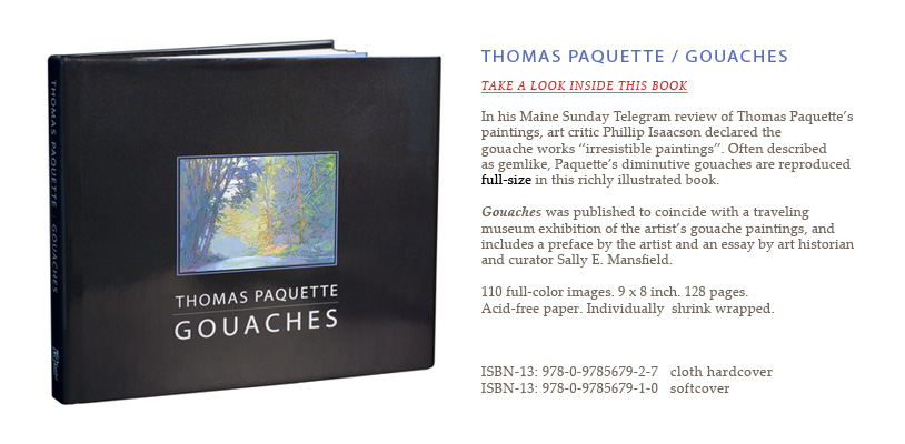 Thomas Paquette - Gouaches book